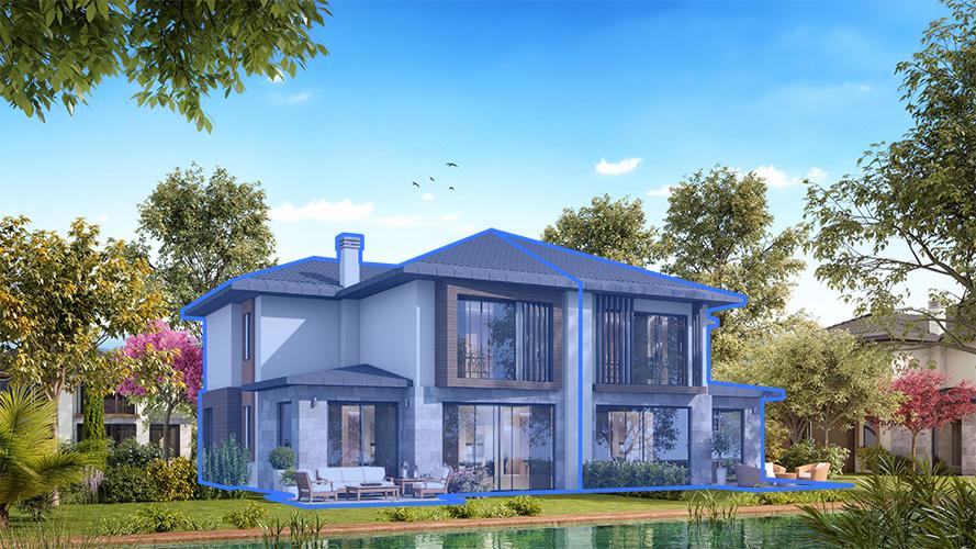 A200 - 200 m²  4+1 Bahçeli Dubleks