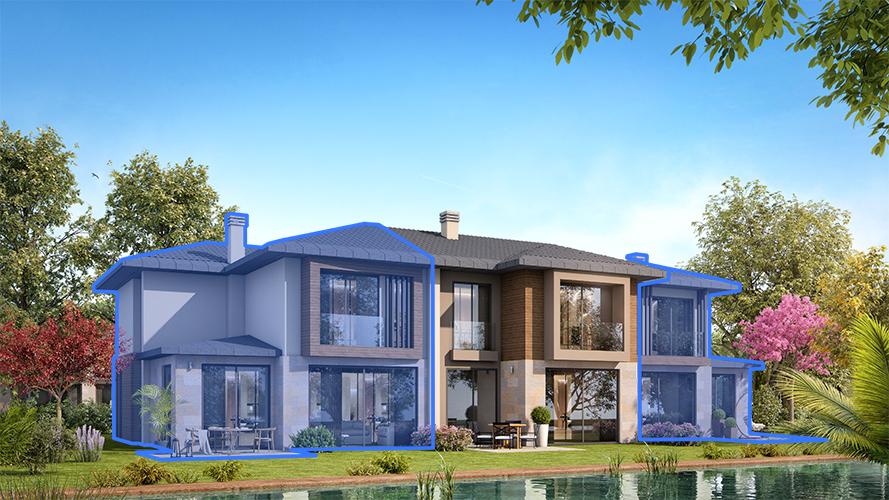 B200 – 200 m²  4+1 Bahçeli Dubleks